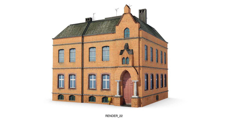 Ngôi nhà với kiểu dáng nhà thờ, được ốp gạch tạo vể đẹp bền với thời gian