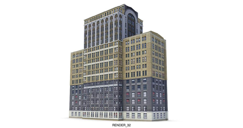 Ngôi nhà cao tầng được sơn màu theo khối, như trò chơi xếp hình