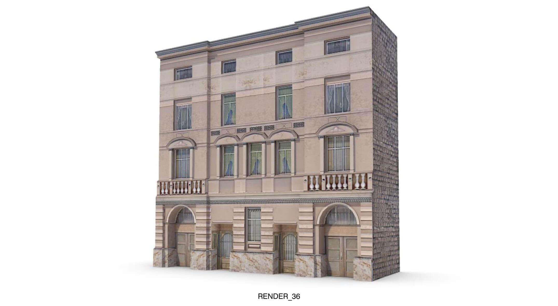Ngôi nhà với các ô cửa sổ, cửa đi muôn hình muôn vẻ