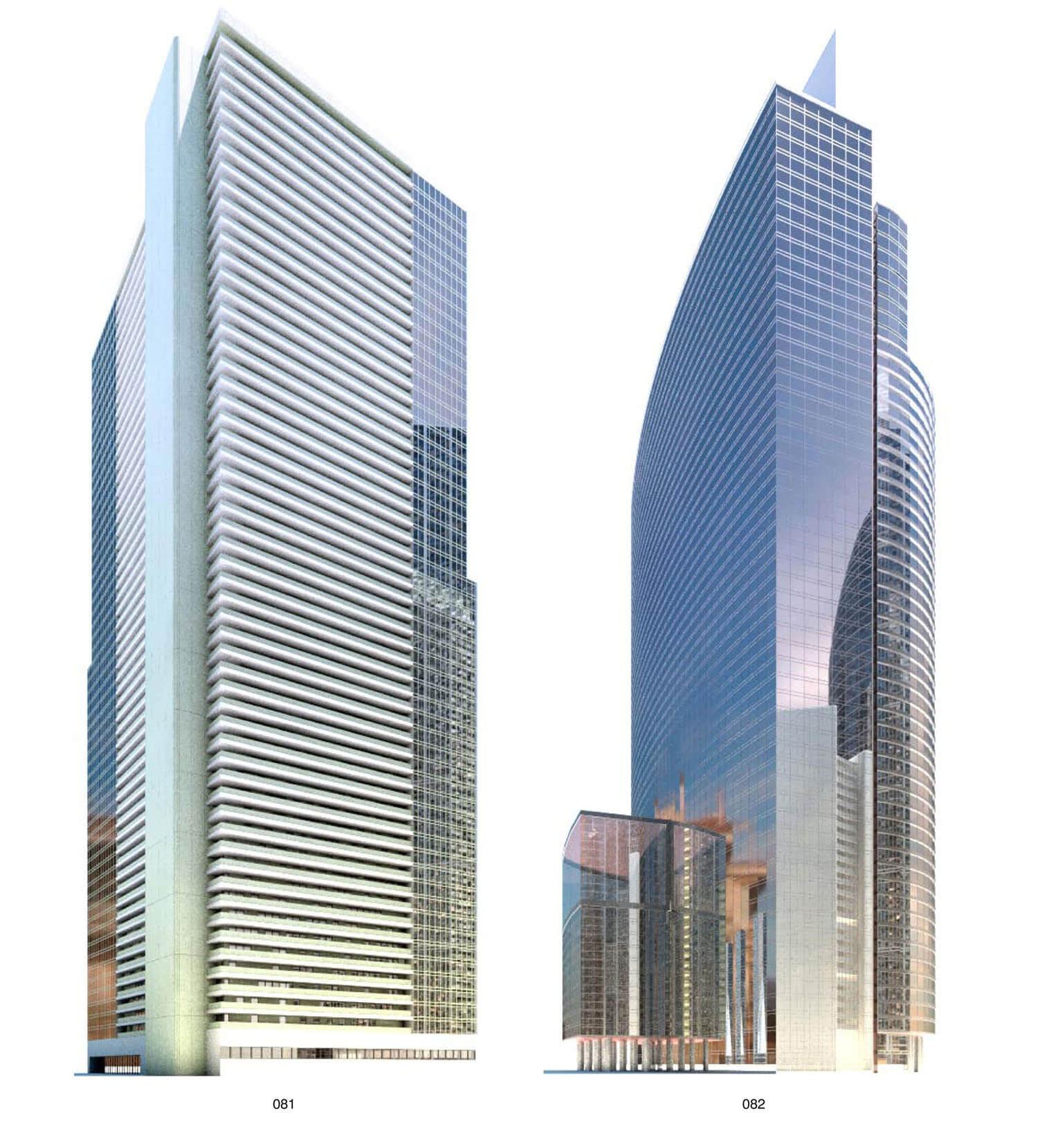 Thiết kế tòa nhà cao tầng có nhiều mặt kính