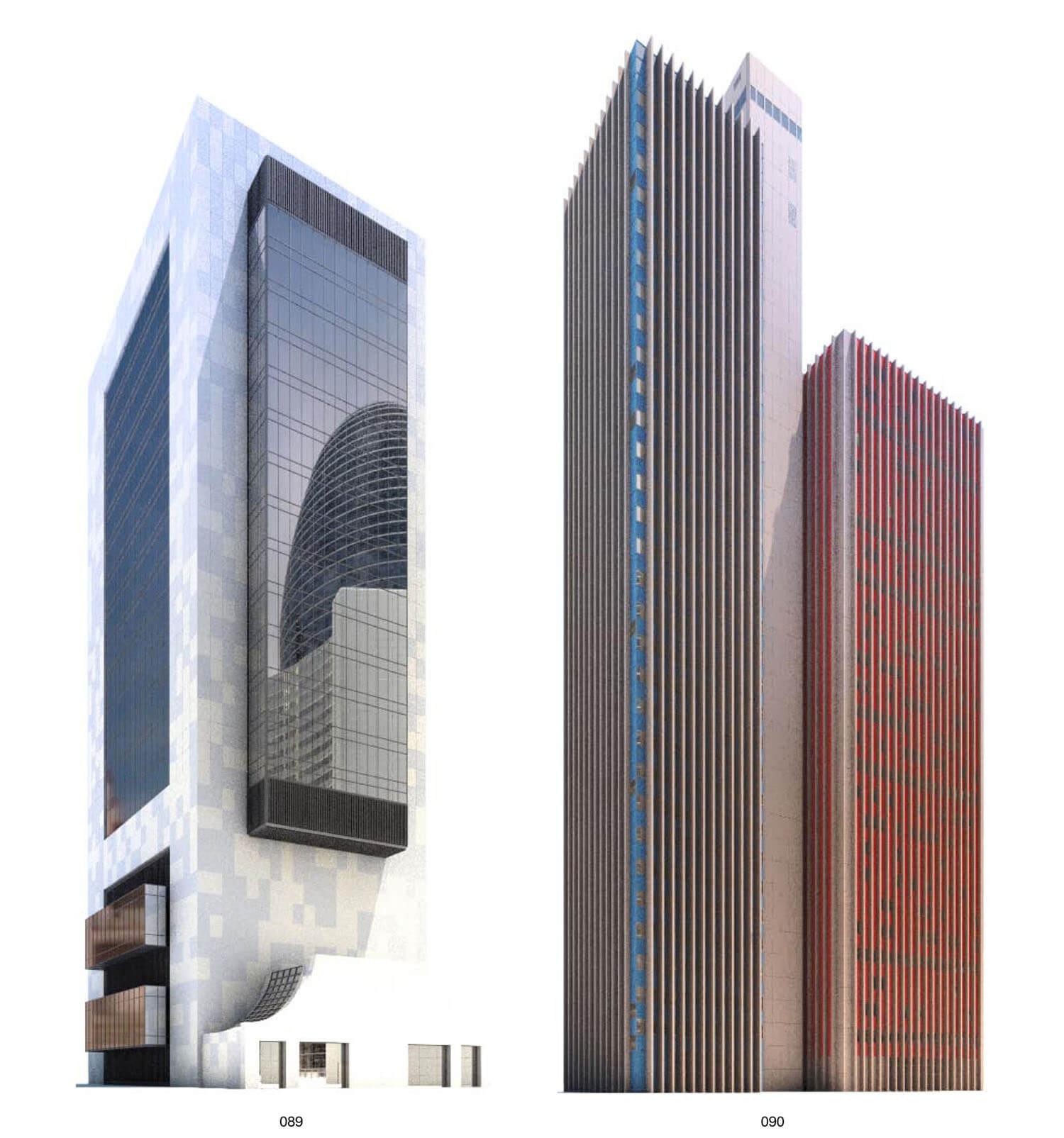 Hai tòa cao ốc ấn tượng mạnh bởi hình khối và đường nét gây shock