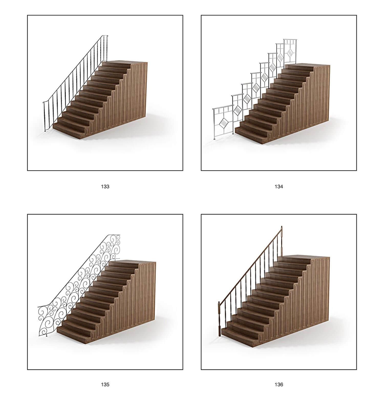 Hoa sắt nghệ thuật làm tay vịn cầu thang