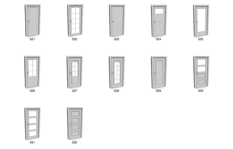 Các mẫu cửa hiện đại dạng mặt phẳng, hoặc kính chạy suốt