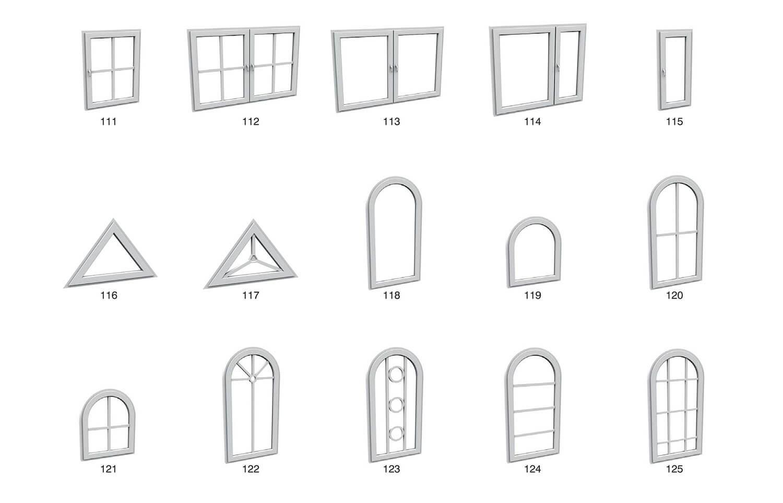 Cửa sổ ô kính lớn kiểu đơn giản, tạo cảm giác thoáng đãng cho người sử dụng