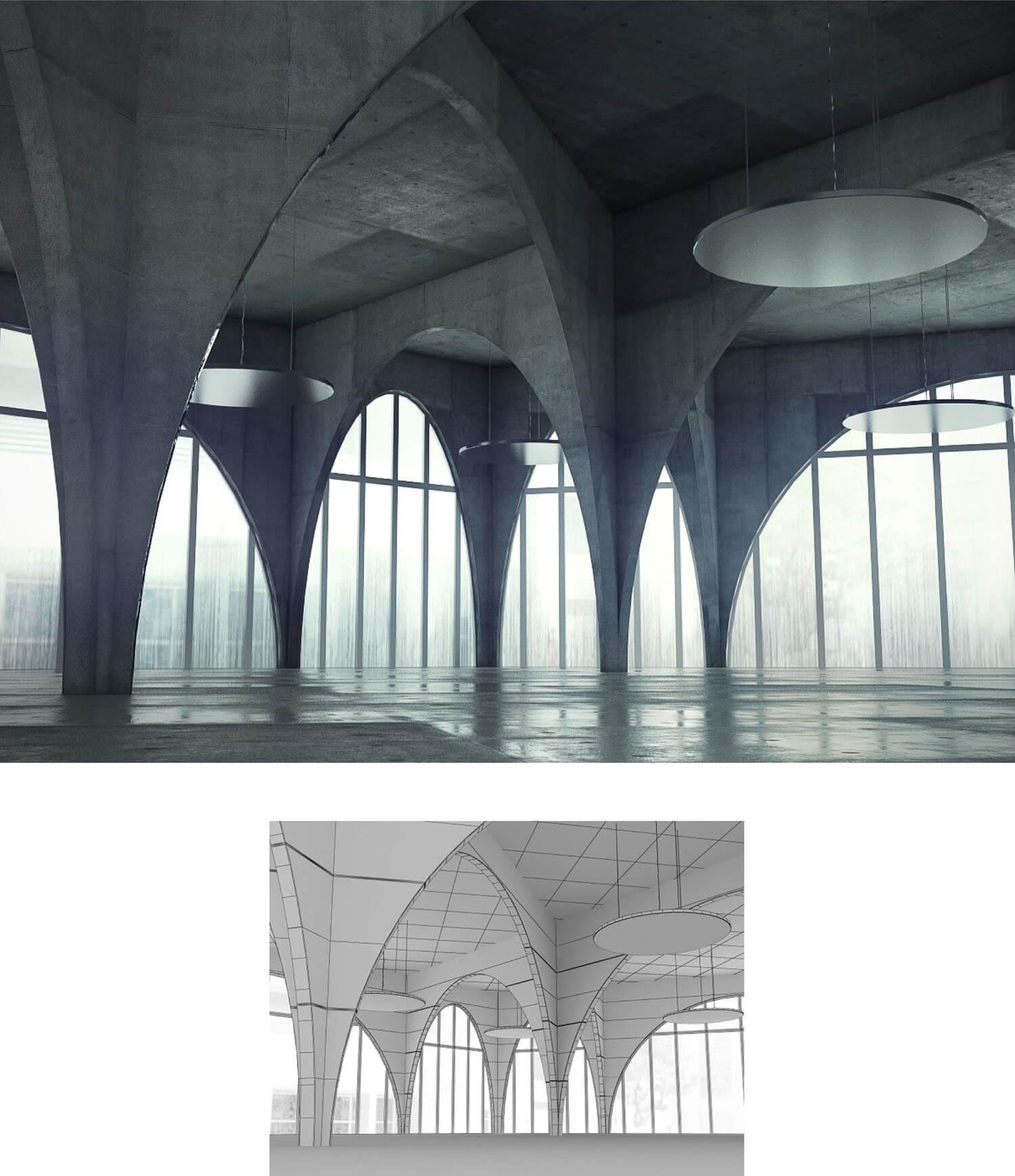 Không gian sảnh đẹp lấy ý tưởng từ các mái vòm Italy