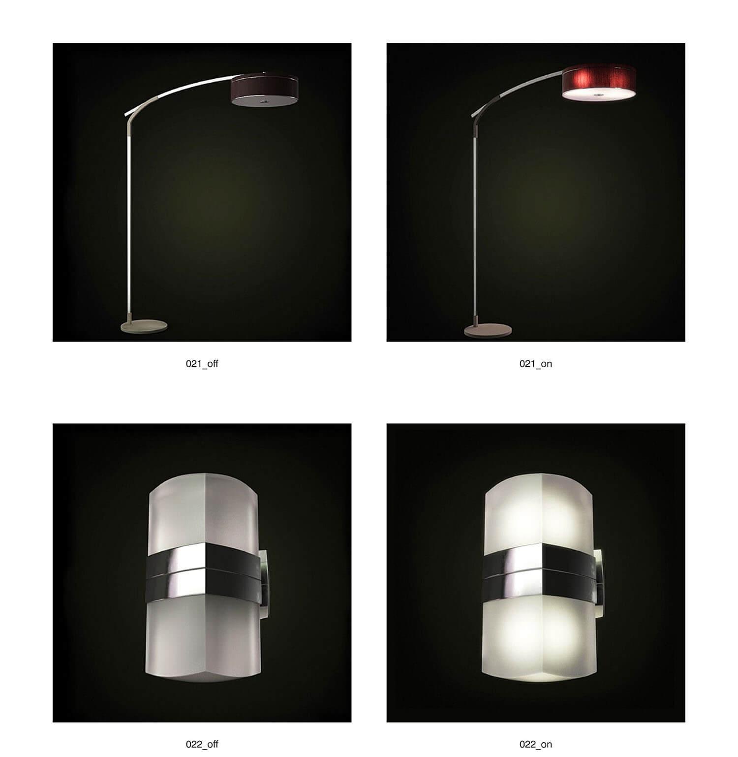 Các loại đèn trang trí ốp tường, đèn cây