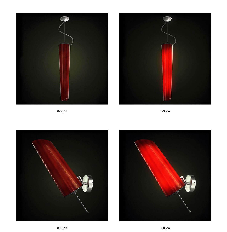 Đèn ốp trang trí với tông màu đỏ