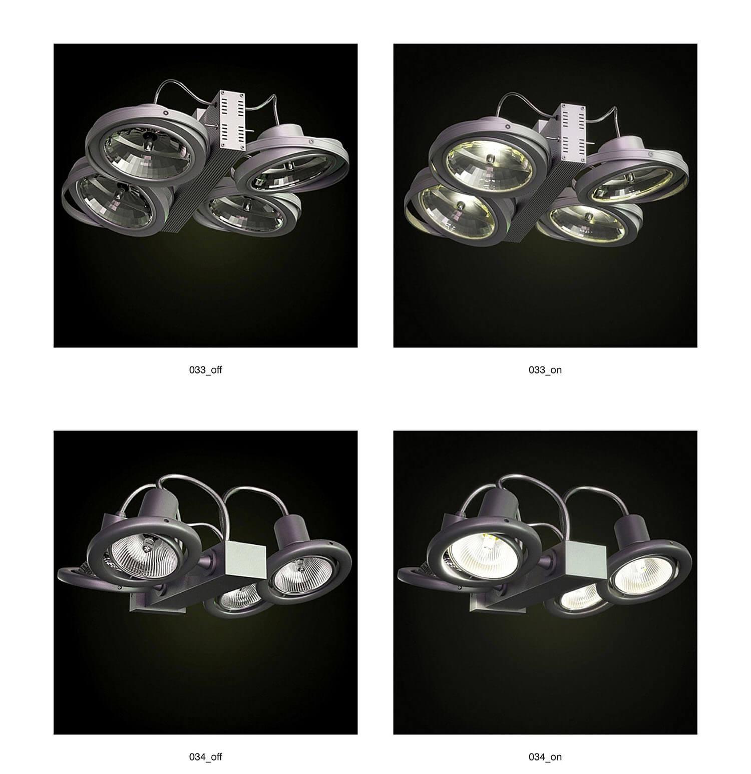 Đèn rọi loại công suất lớn không gian showroom trưng bày nội thất