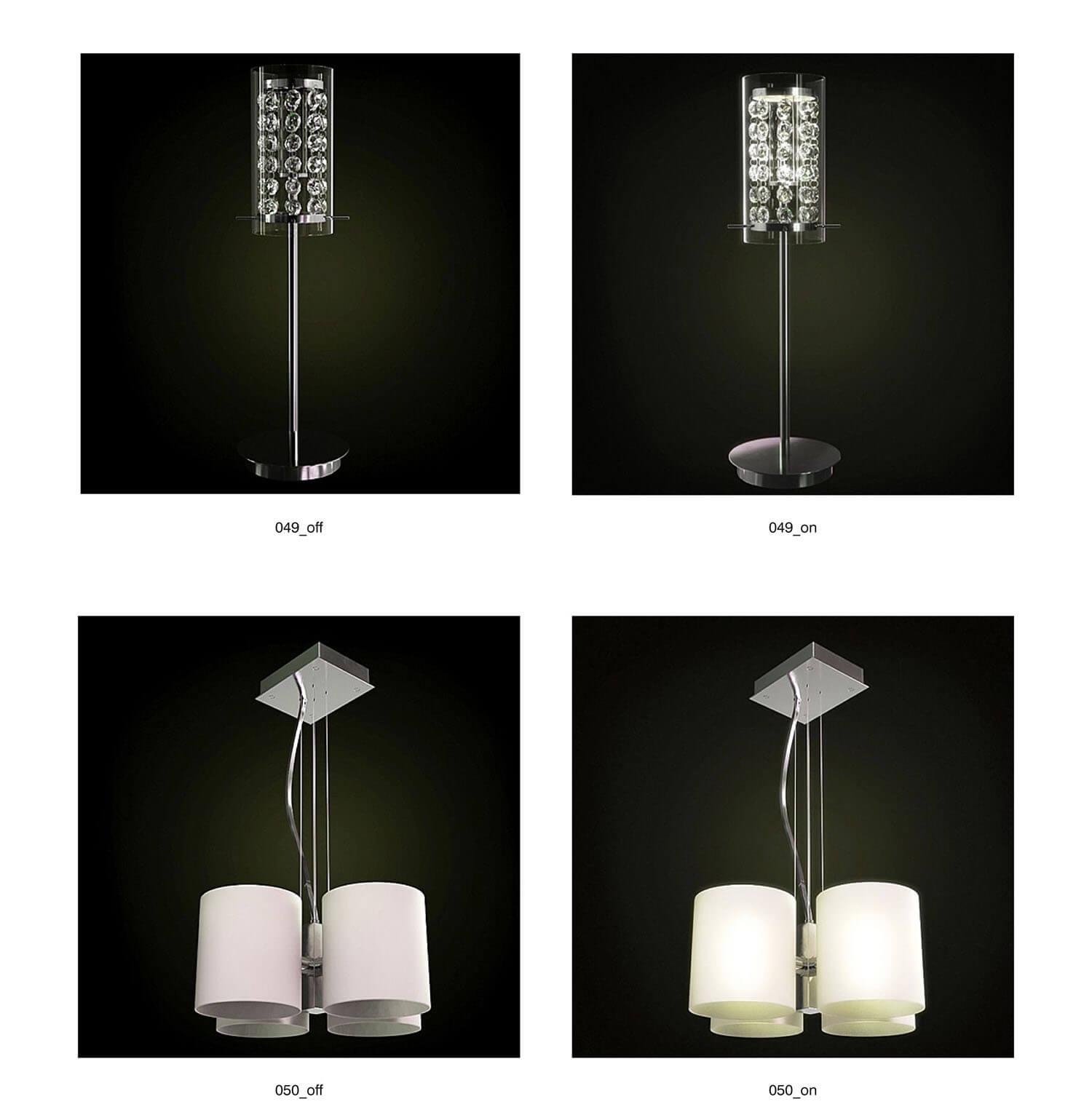 Đèn cây và đèn rọi cho phòng ngủ
