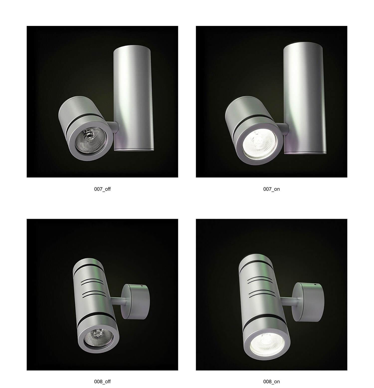 Các kiểu đèn rọi mạ kim loại, nhìn khỏe khoắn, hiện đại