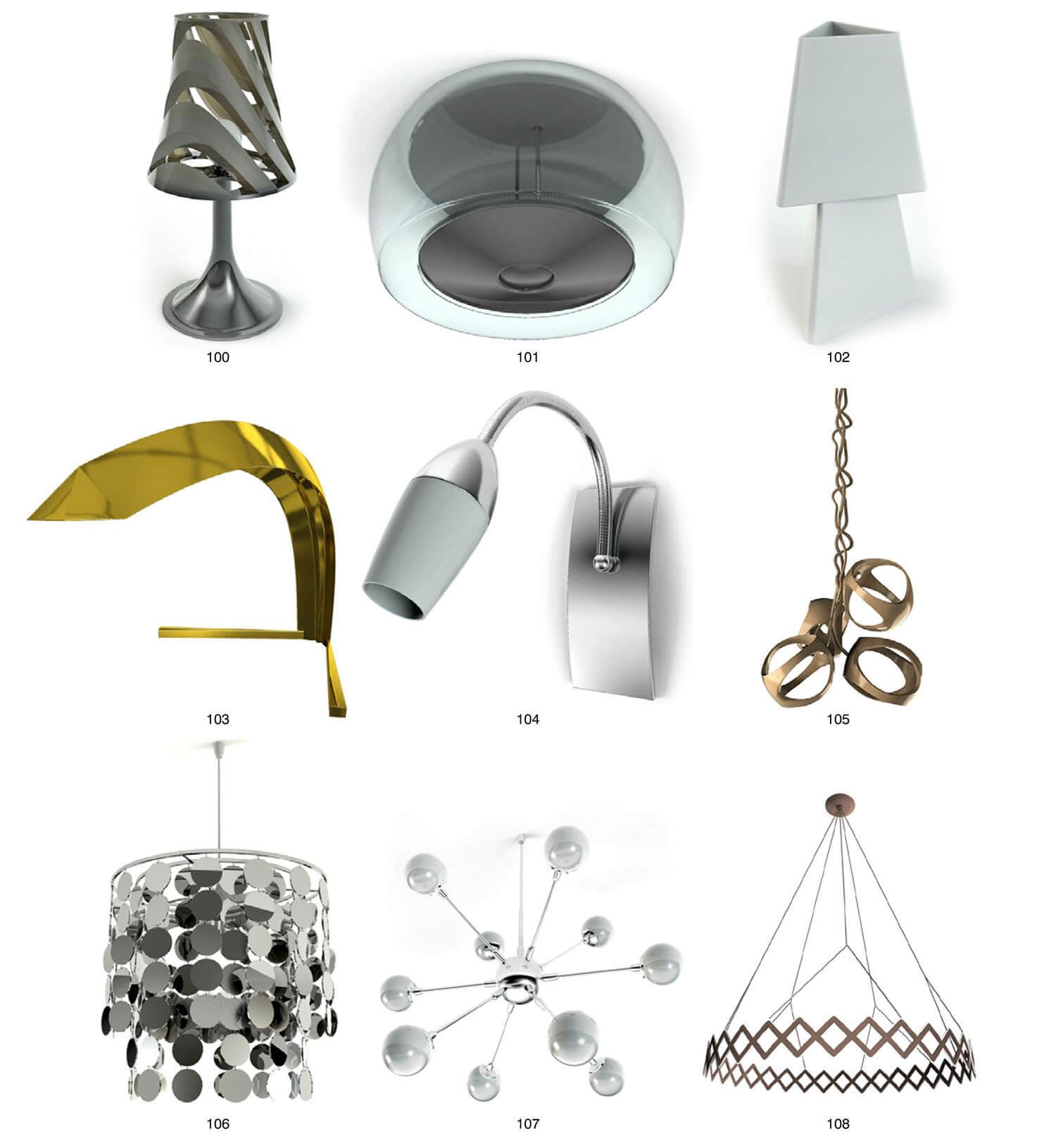Các mẫu đèn với hình dáng thiết kế bay bổng, sáng tạo