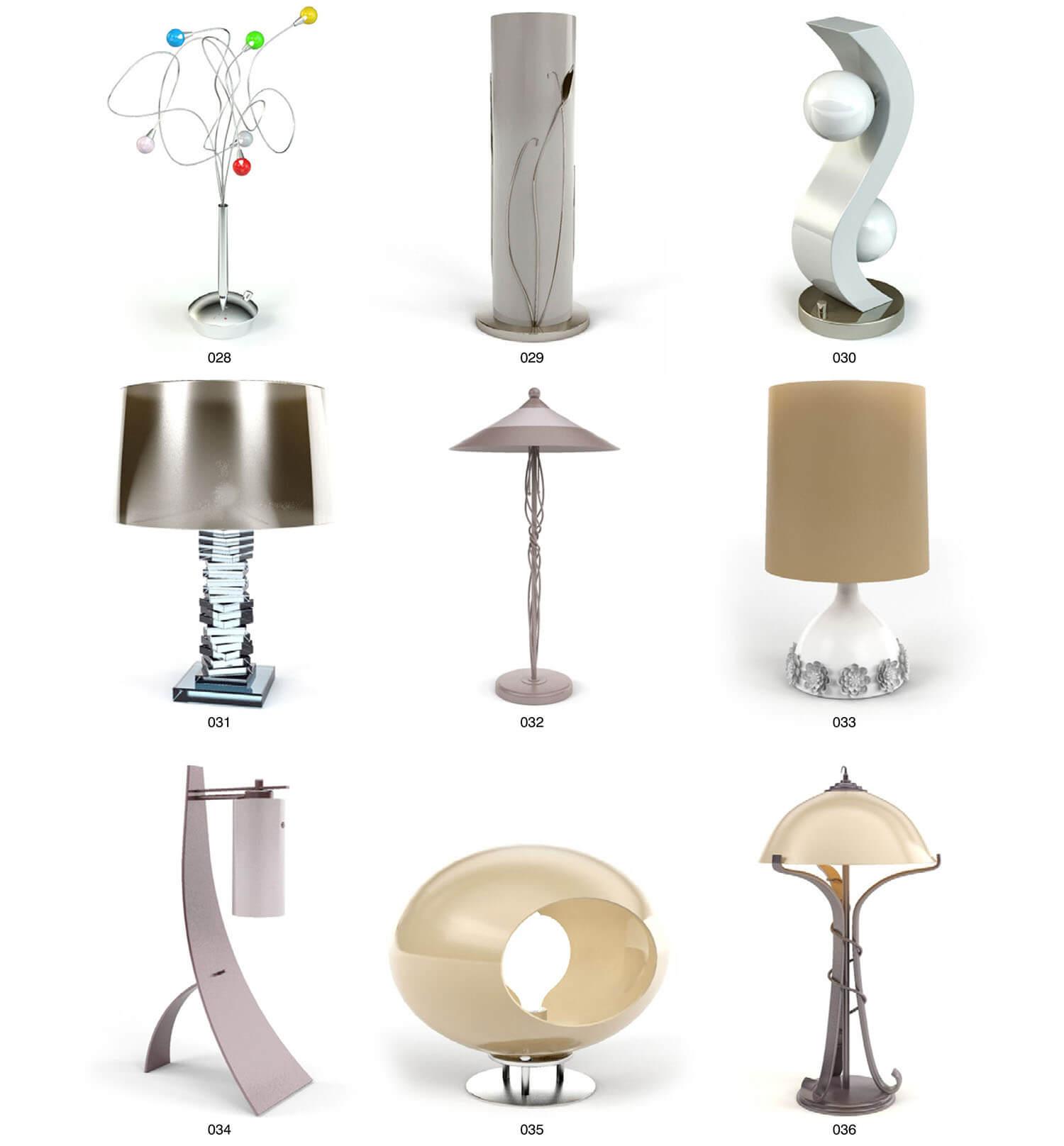 Các mẫu đèn hiện đại nghệ thuật