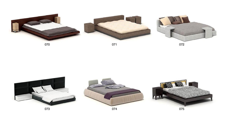 giường khổ lớn 2m x 2m cho những phòng ngủ rộng, phòng ngủ master