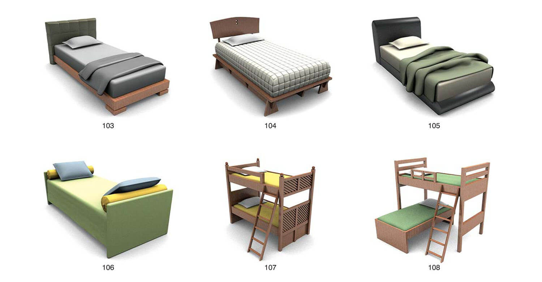 Một số loại giường tầng với biến hóa trong kết cấu