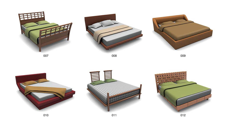 Giường với thân giường bằng đệm, giúp người nằm cảm thấy êm ái hoàn toàn