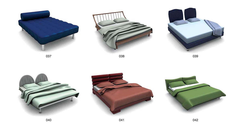 Giường nệm đơn giản