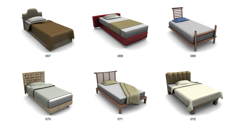Các mẫu giường đơn cho các không gian khác nhau