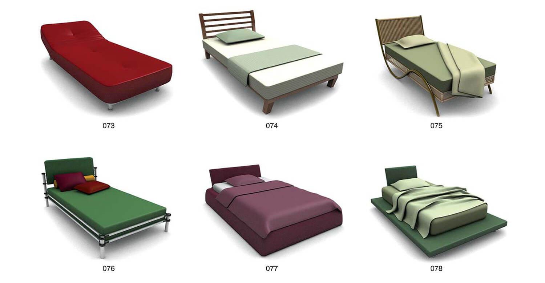 Cả loại giường đơn giản, nhẹ nhàng, cho không gian không quá sang trọng