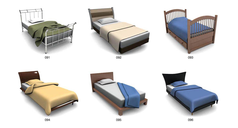 Giường ngủ đơn với kiểu cách đầu giường lớn