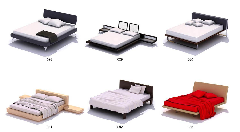 Giường bọc nỉ với màu sắc trầm hơn