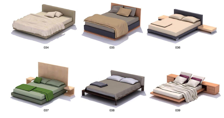Một số mẫu giường hiện đại nhưng có màu sắc trầm