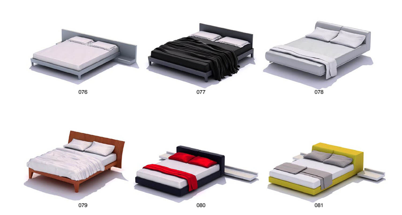 Giường đôi hiện đại đơn giản cho thanh niên