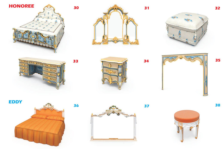 Mẫu thiết kế giường ngủ Châu Âu sang trọng