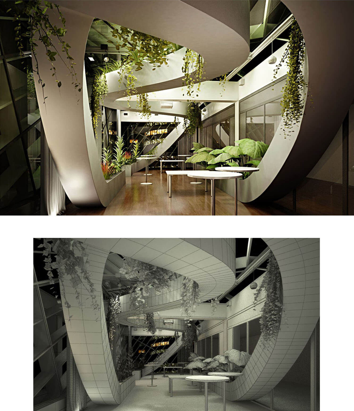 Thiết kế không gian nhà hàng đẹp và nghệ thuật