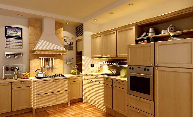 Không gian phòng bếp ăn gọn gàng chuyên nghiệp