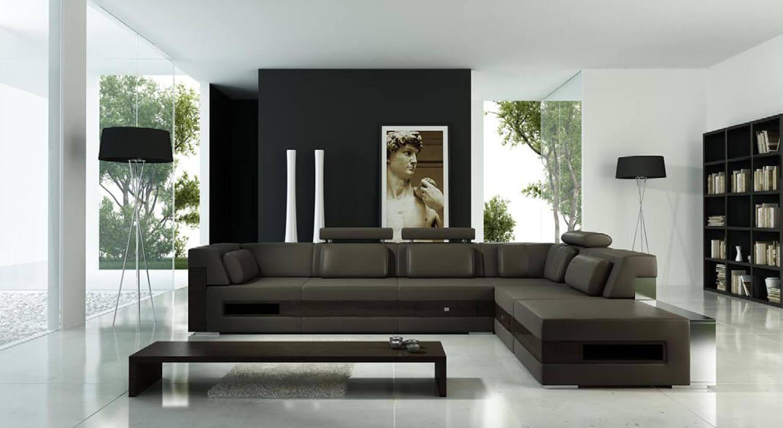 Không gian nội thất phòng khách trở nên rộng hơn với các vách kính bao quanh
