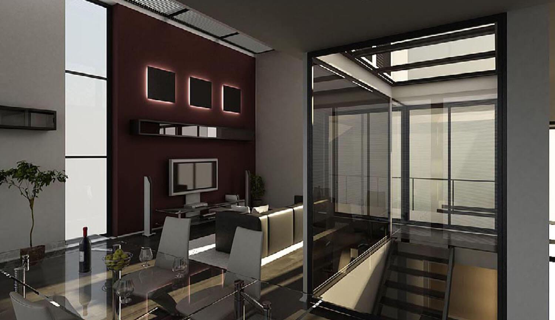 Phòng khách đẹp kết hợp với phòng ăn