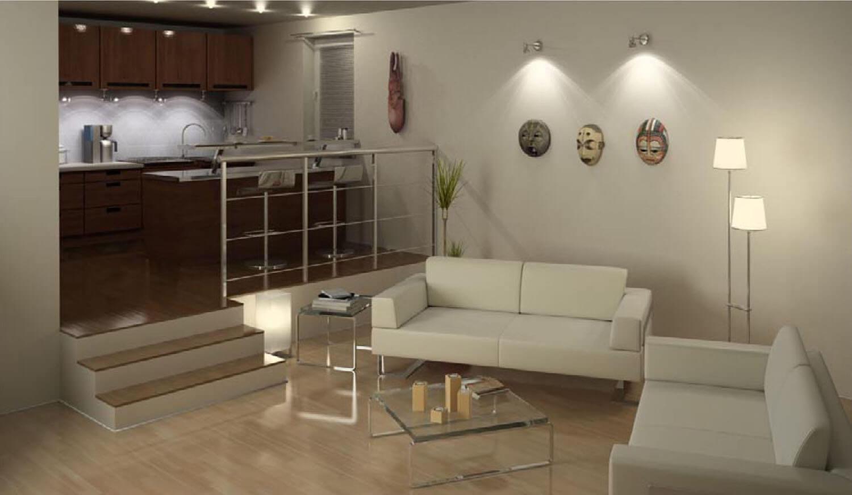 Sơn tường được pha lẫn hài hòa cùng màu ghế salon