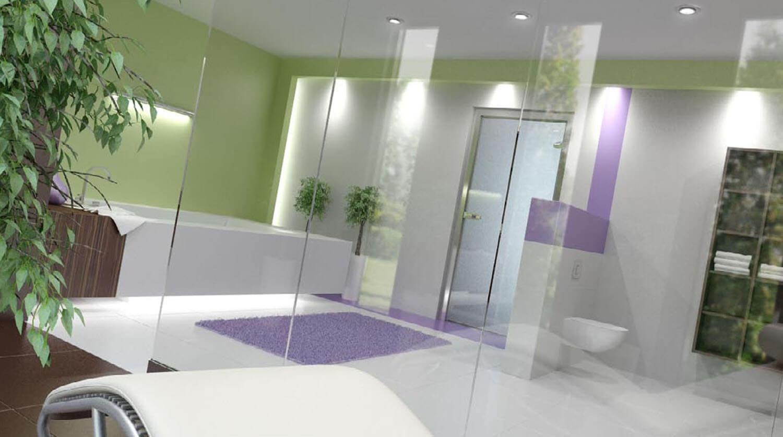 Thiết kế phòng tắm với vách kính để chia khu một cách thông minh
