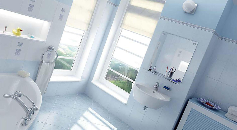 Thiết kế phòng tắm với gam mầu sáng