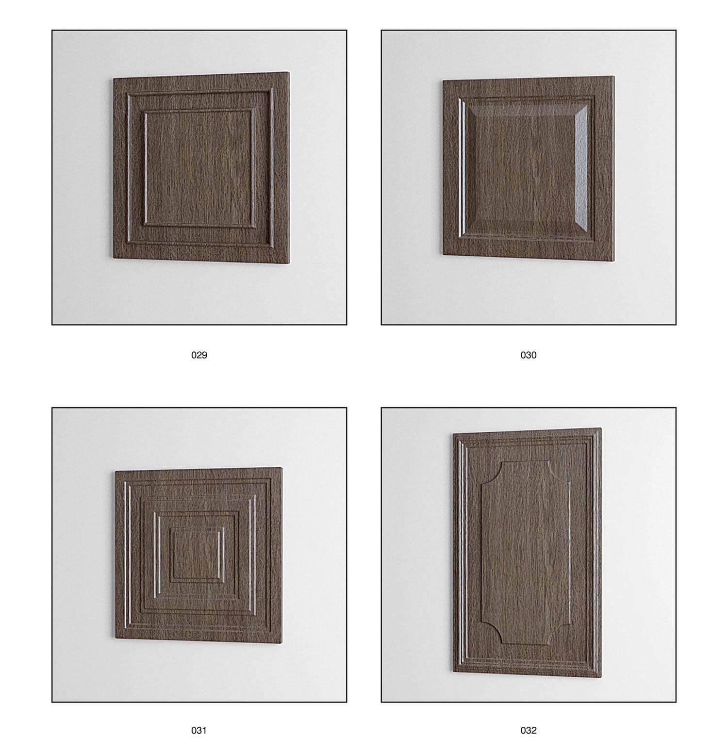 Mẫu pa-nô cho cửa gỗ
