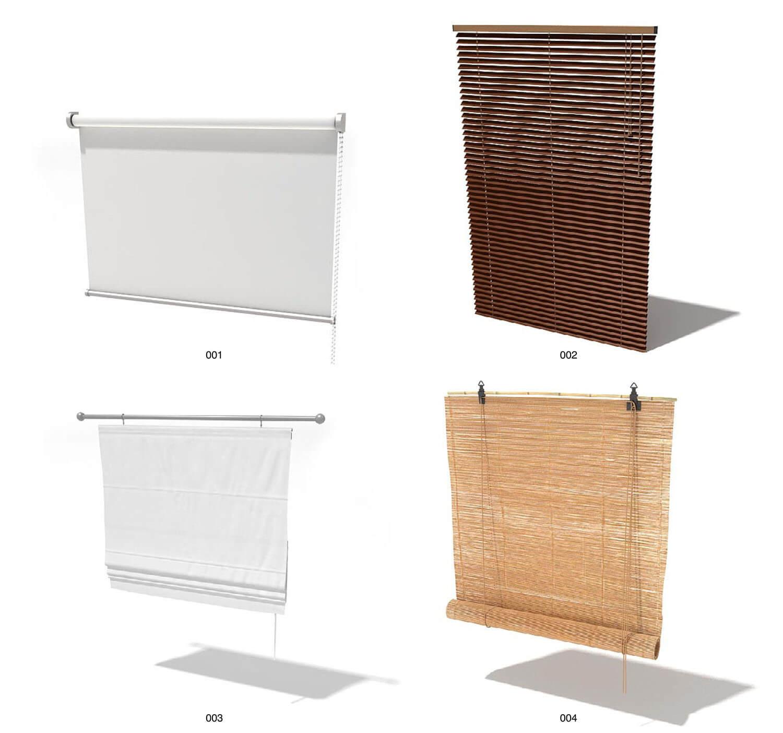 Những mẫu rèm vải, rèm gỗ kiểu đơn giản