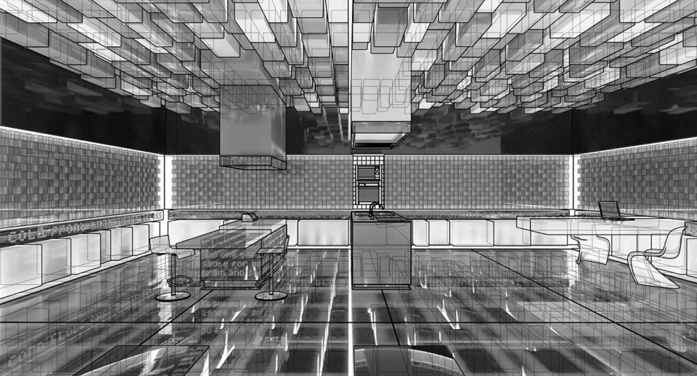 Bản vẽ thiết kế 3D nội thất văn phòng
