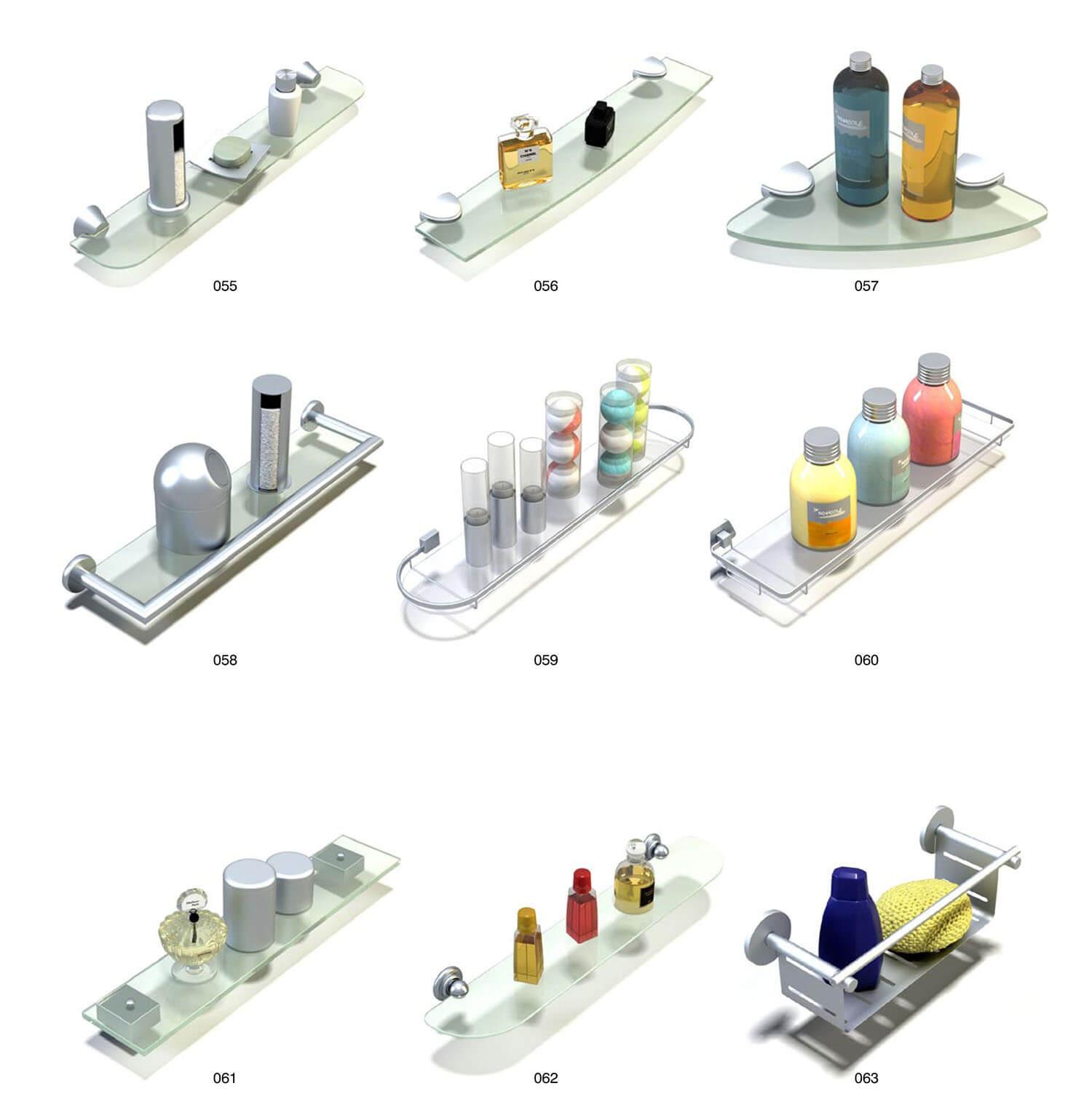 Những mẫu giá kính đẹp để dụng cụ trong nhà tắm