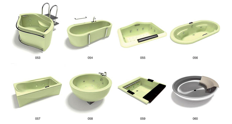 Một số mẫu bồn tắm có kiểu dáng nghệ thuật