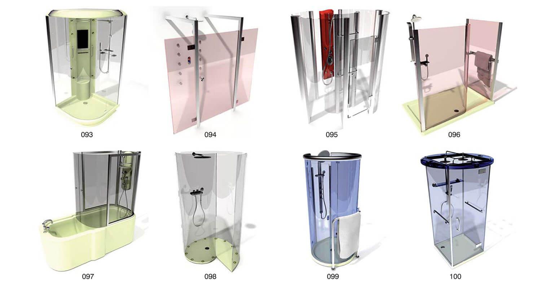 Vách tắm kính được thiết kế nhiều hình dạng phù hợp theo từng diện tích nhà tắm