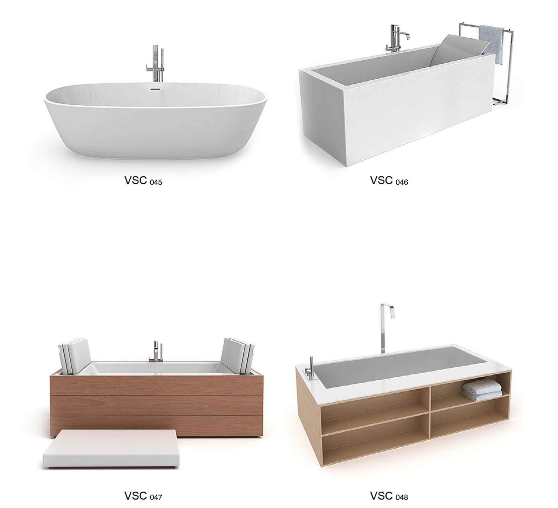 Bồn tắm nằm nhiều kiểu dáng cho phòng tắm