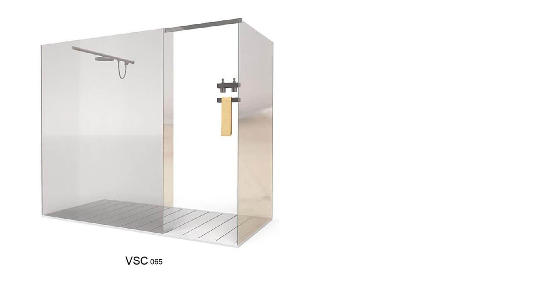 Vách kính được thiết kế dạng hình hộp tạo thành bồn tắm đứng
