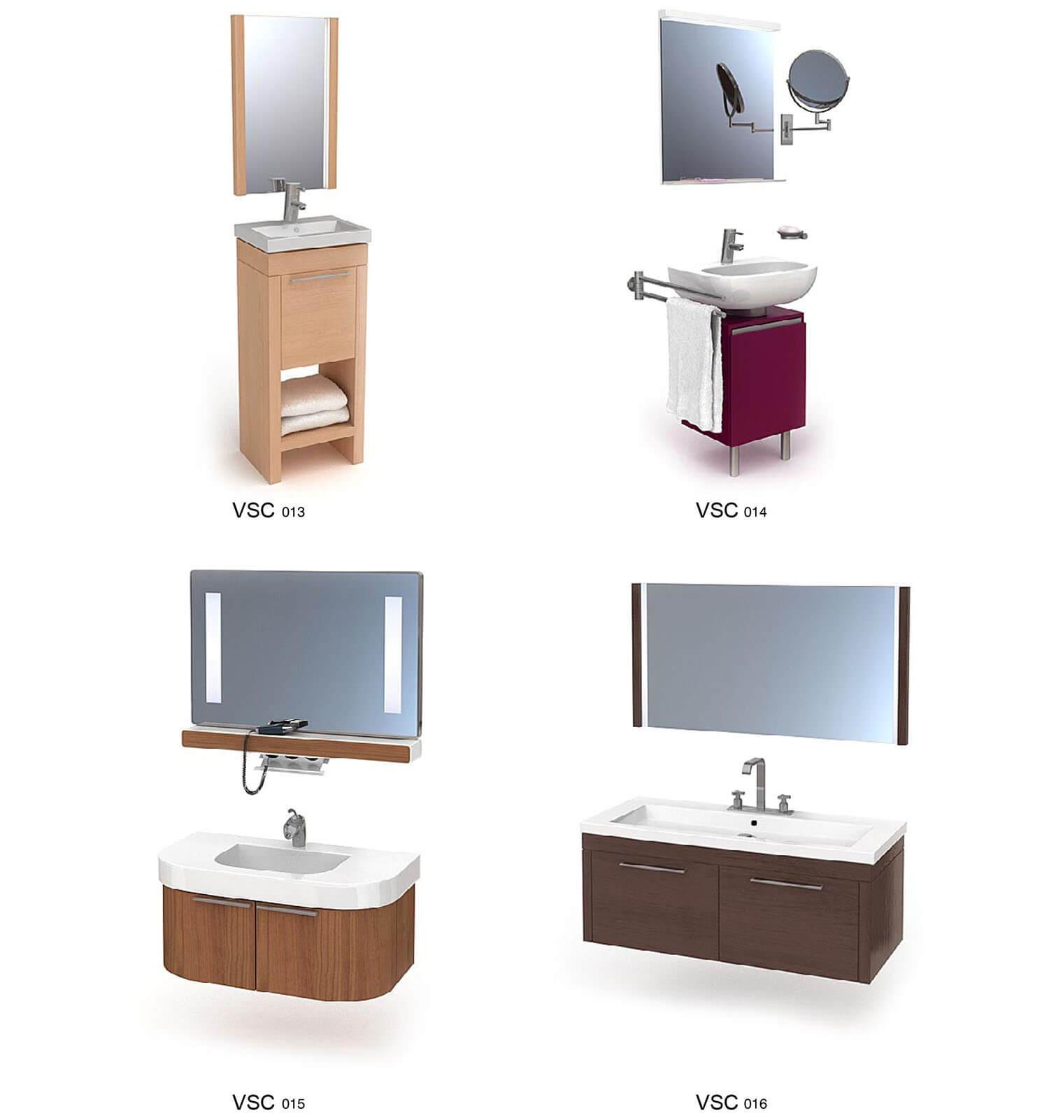 Tủ chậu rửa mặt có thiết kế nhỏ hẹp phù hợp với phòng tắm bé