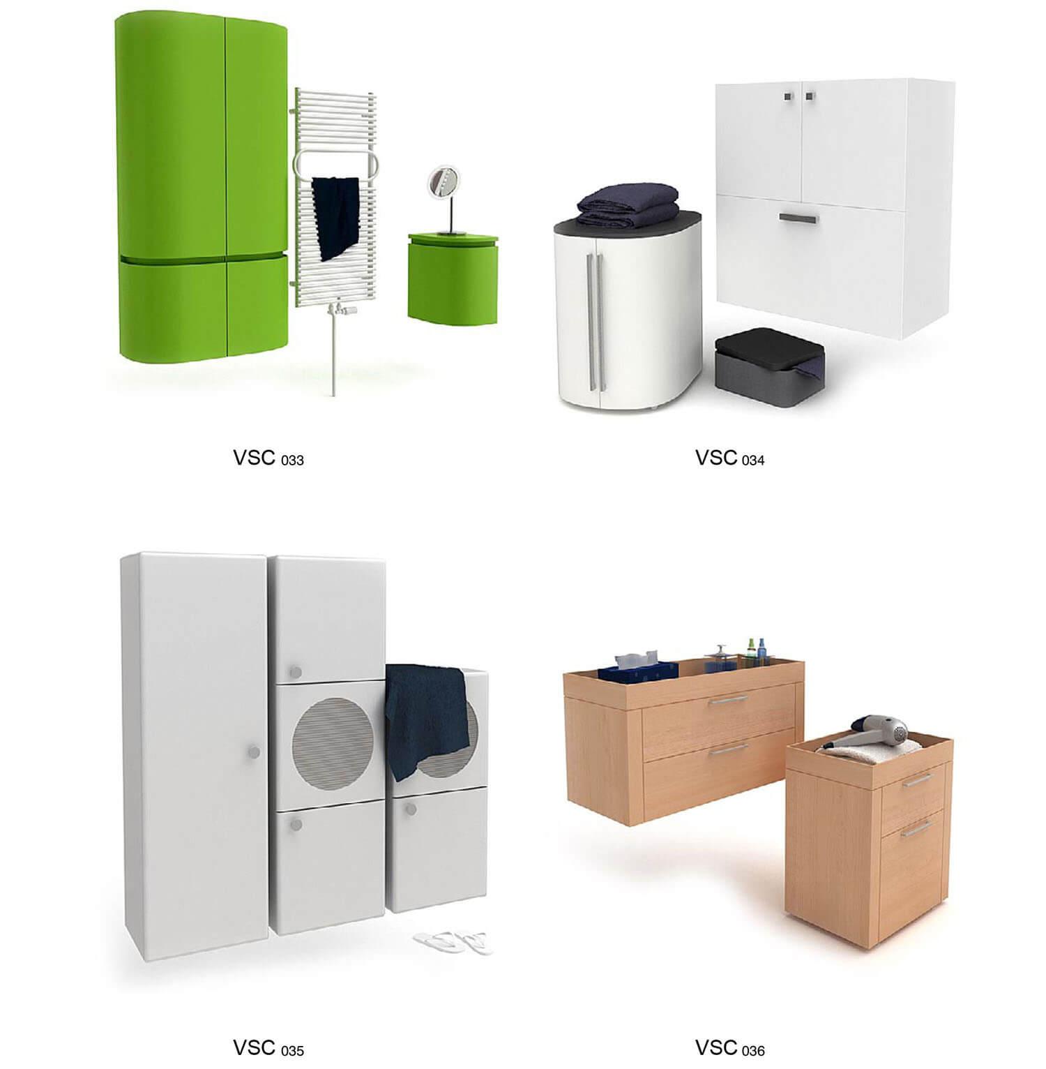 Các loại tủ quần áo dùng riêng cho phòng tắm