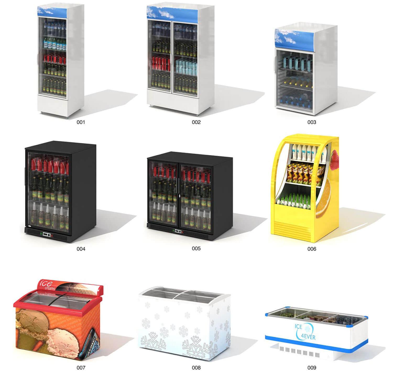 Các mẫu tủ làm mát, tủ đông lạnh cho siêu thị
