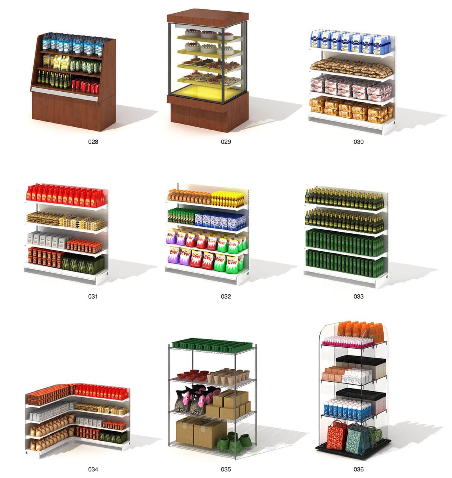 Tủ kính bán hàng bánh kẹo, đồ uống cho siêu thị